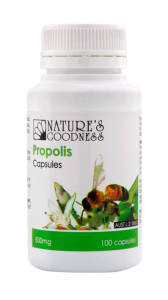 Natures Goodness Propolis - 100 Capsules 500mg