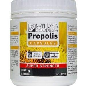 Natures Goodness Propolis Super Strength 1000mg 365 Capsules