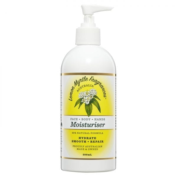 Lemon Myrtle Moisturiser - 500ml Front