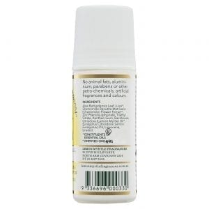 Lemon Myrtle Roll-On Deodorant 75ml Side 2