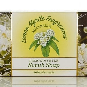 Lemon Myrtle Soap 100g - Scrub Boxed