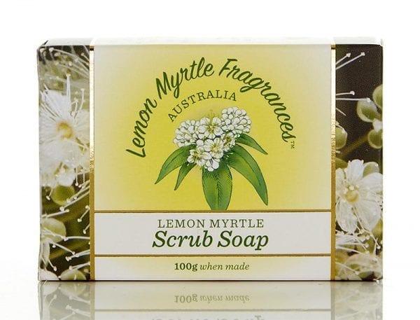 Lemon Myrtle Soap 100g - Scrub Boxed