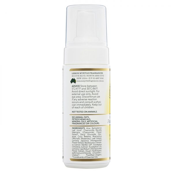 Lemon Myrtle Foaming Face Cleanser - 150ml Side 1